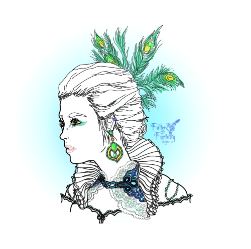 Based off an angelic style, using traditional fashion